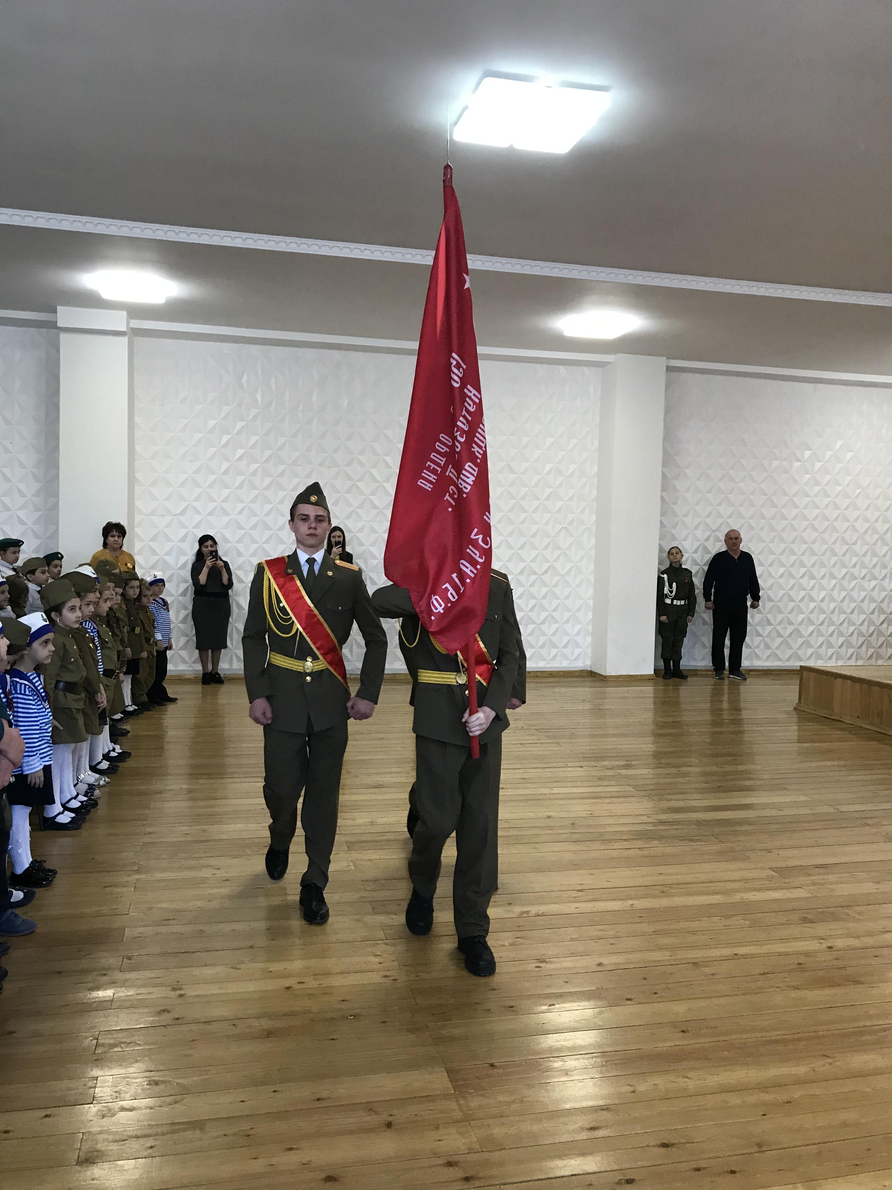 Встреча Знамени Победы в МКОУ «Гимназия №17»